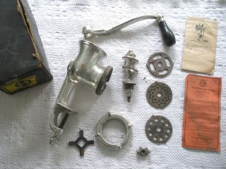 Vintage Griswold No.  2 Cast Iron Hand Crank Meat Grinder Food Processor photo