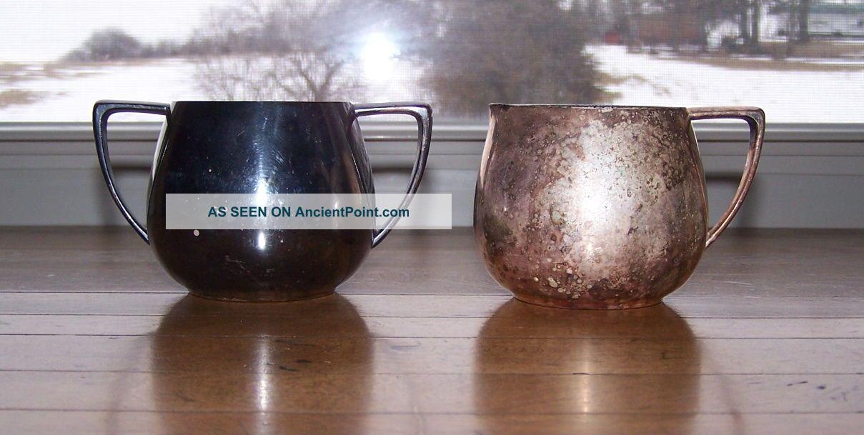 2 - Vintage Empire Crafts Quadruple Plate Silver Creamer And Sugar Bowls Creamers & Sugar Bowls photo