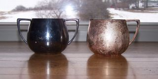 2 - Vintage Empire Crafts Quadruple Plate Silver Creamer And Sugar Bowls photo