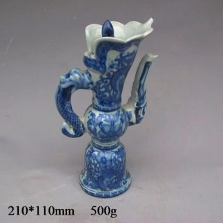 Chinese Blue And White Porcelain Teapot W Qing Dynasty Qianlong Mark photo