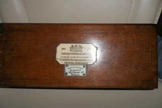 Sykes ' S Hydrometer N:8384 London Antique Victorian 1840 ' S Wooden Box Empty photo