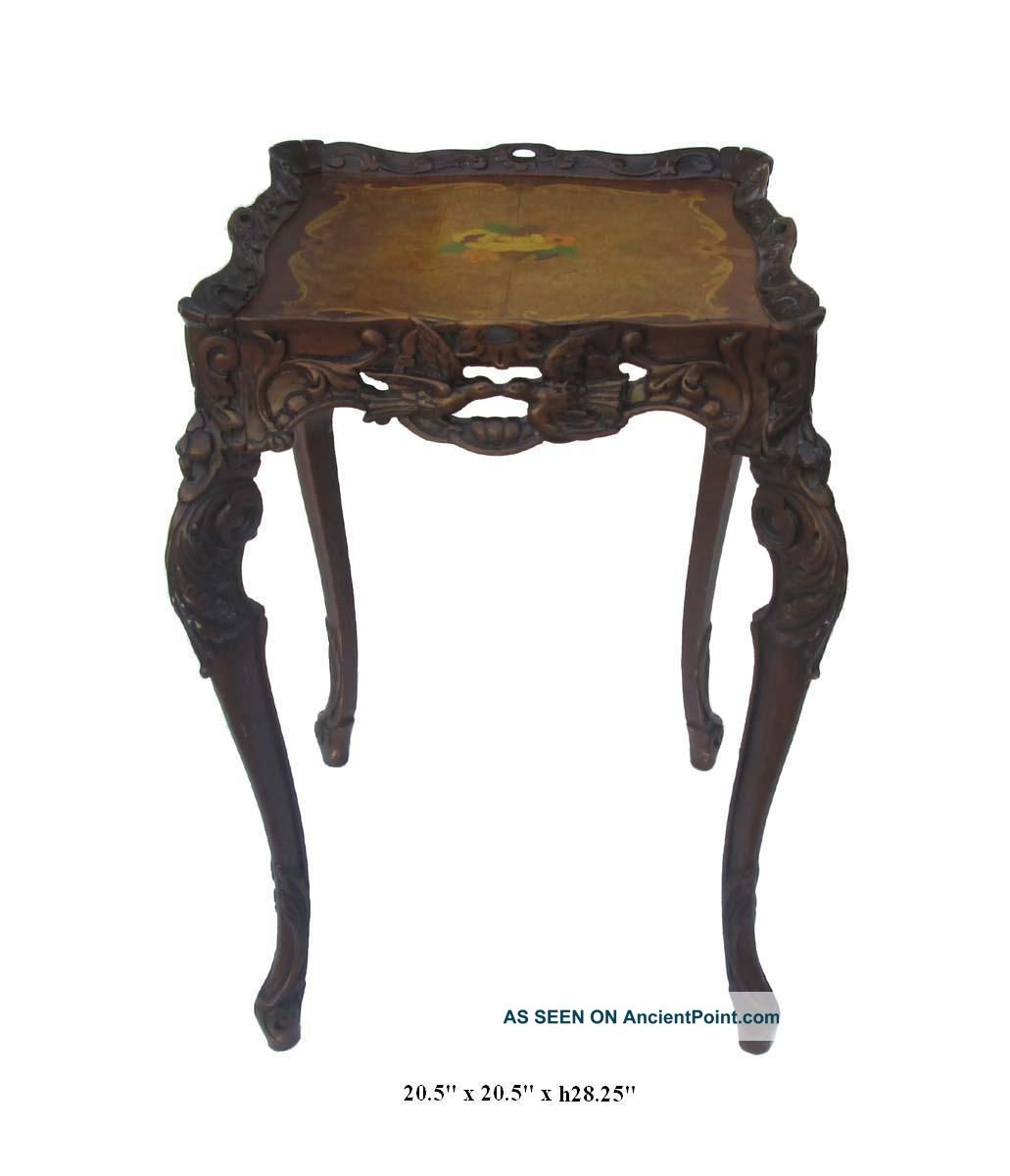 Unique French Style Handmade Wood Carving End Table,  Plant Stand F867 Unknown photo