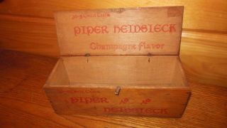 Vintage Piper Heidsieck 5 Cent Cigar Box / American Tobacco Co. photo