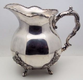 Antique Silver City Silver Plate Ornate Water Pitcher No Monogram photo