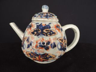 A Large Chinese Imari Teapot From The Kangshi Period (1662 - 1722) photo