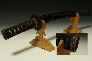 Japan Antiques Edo Drgon Fuchi Kashira Tsuba Sword Koshirae Kojiri Saya photo