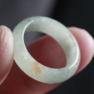 Size 8 Certified Natural A Chinese Jadeite Jade Ring R065 photo