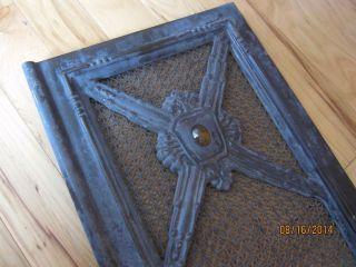 Glass Jewel Cast Iron Enamel Stove Door Primitive Victorian Furnace Grate Grill photo