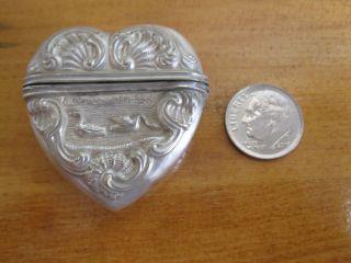 Antique Danish Or German Sterling Silver Vinaigrette. photo