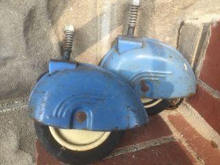 Vintage Metal Baby Stroller Walker 40s - 50s Wheels Fenders Parts Taylor Tot photo
