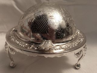 Lovely Vintage Silver Plated Butter/caviar Dish Downton Style photo