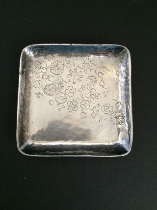 Sterling (925) Hand Crafted Small Square Dish Tray Peru photo