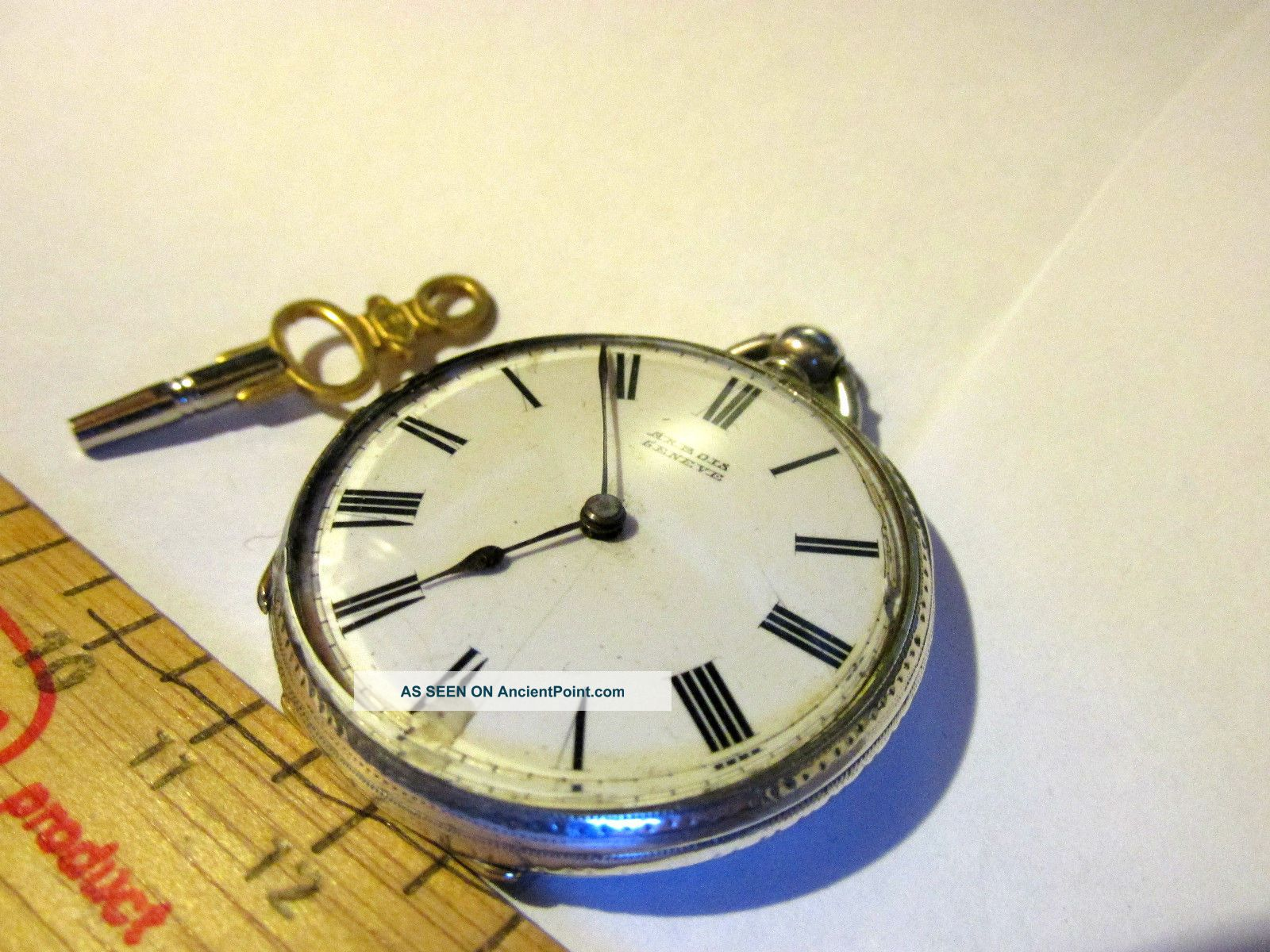 Victorian Solid Silver Pocket Watch Requires Glass Refitting Size 40mm Pocket Watches/ Chains/ Fobs photo