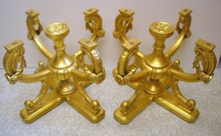 Matching Pr Vintage Gold Leaf Gilt Metal End Tables Or Coffee Hollywood Regency photo