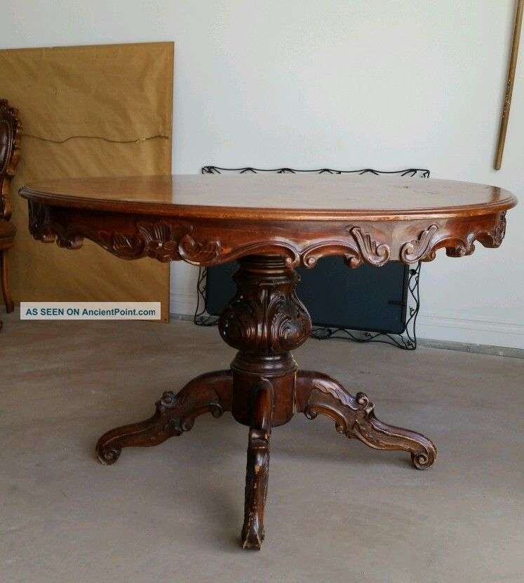 Old Antique Dining Table And 4 Chairs Unknown photo