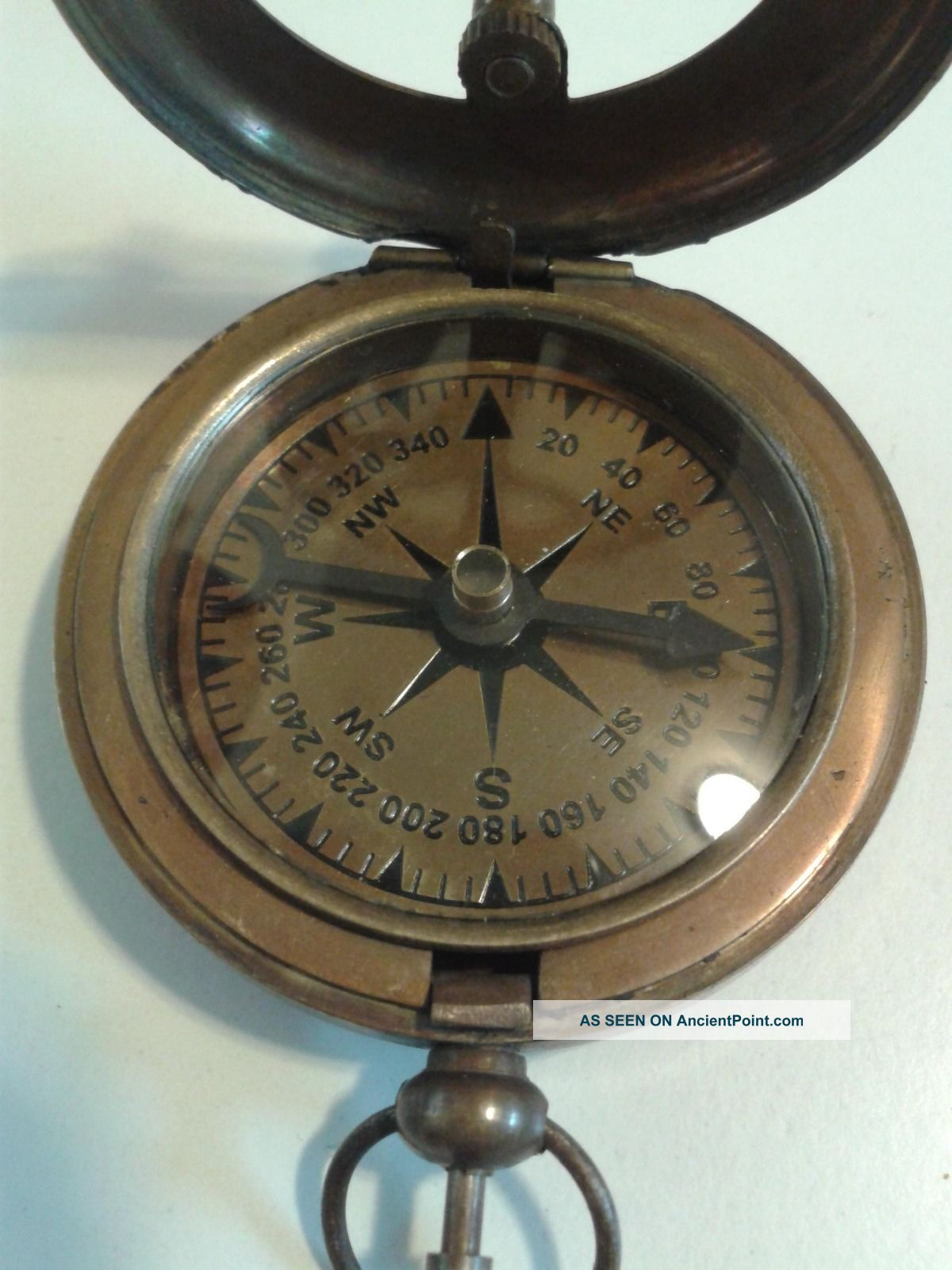 Nautical Brass Sundial Compass, Antique Brass Vintage Camping Hiking ...