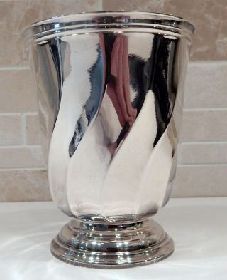 Antique Vintage Christofle France Silver Plate Torsade Beaker,  Cup,  Tumbler photo