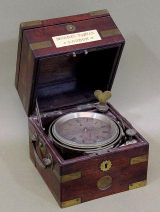 Antique Circa - 1830s Morris Tobias Ship Captains English Chronograph Clock & Case photo