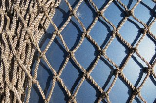6 Feet X 18 Feet Heavy Gray Alaskan Seine Net Fishing Fish Netting (n318) photo