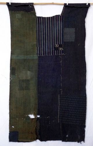 B28d Antique Japanes Meiji Taisho Era Boro Indigo Dyed Patch Sashiko Futon Cover photo