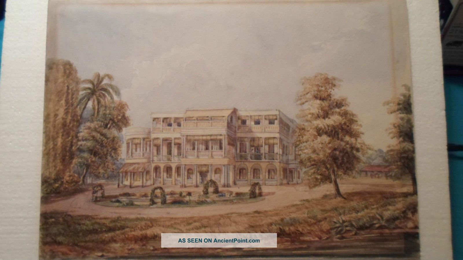 Antique India Watercolour Paintings 2 Unframed