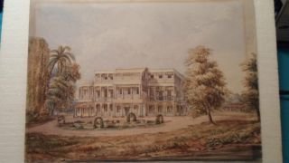 Antique India Watercolour Paintings 2 Unframed photo