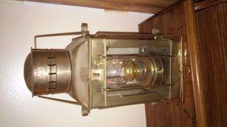 1920 Vintage Neptune Copper/brass Ship Lantern photo