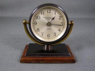 Chelsea Desk Clock Camalier Buckley Washington Wood Base photo