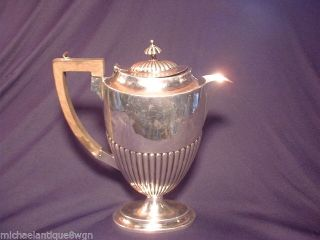 Antique Birningham.  925 Sterling Silver Coffee Pot C1904 Approx 18 Oz.  510 G. photo