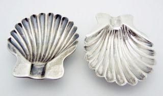 Vintage Sanborns Mexico Scallop Shell Ashtrays In Sterling Silver photo