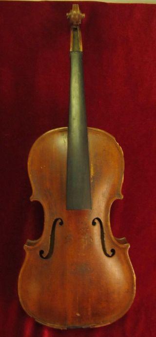Antique Maggini 4/4 Violin Signed & Dated 1886 Harrisburg Pa For Restoration photo