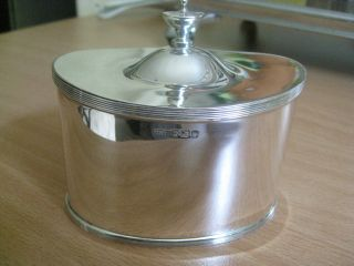 Solid Silver Tea Caddy By Mappin & Webb - Antique Hallmarked Sheffield 1896 photo