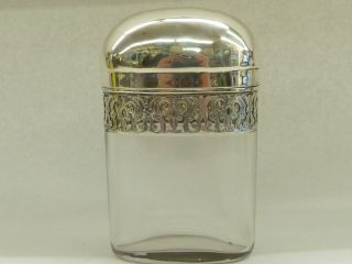 Quality Antique 1882 Hallmarked Silver Topped Glass Vanity Jar Asprey Of London photo
