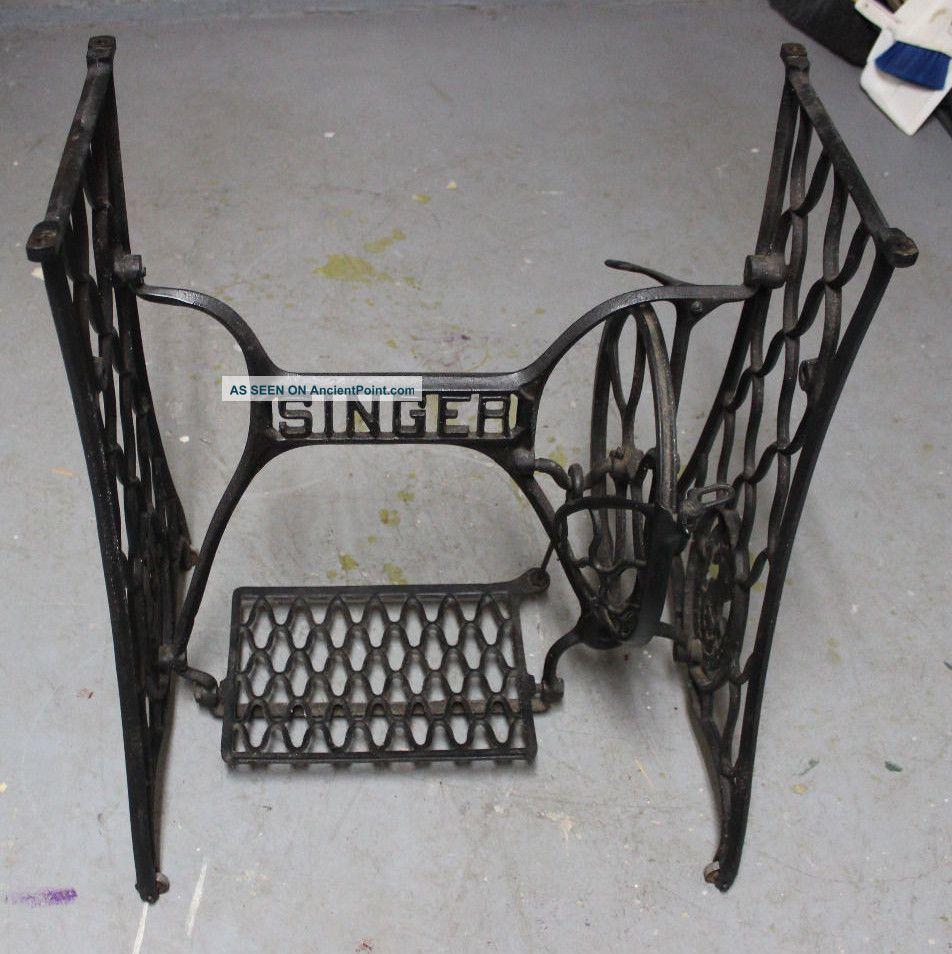 Antique Singer Treadle Sewing Machine Base Sewing Machines photo