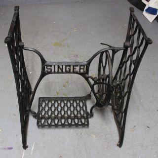 Antique Singer Treadle Sewing Machine Base photo