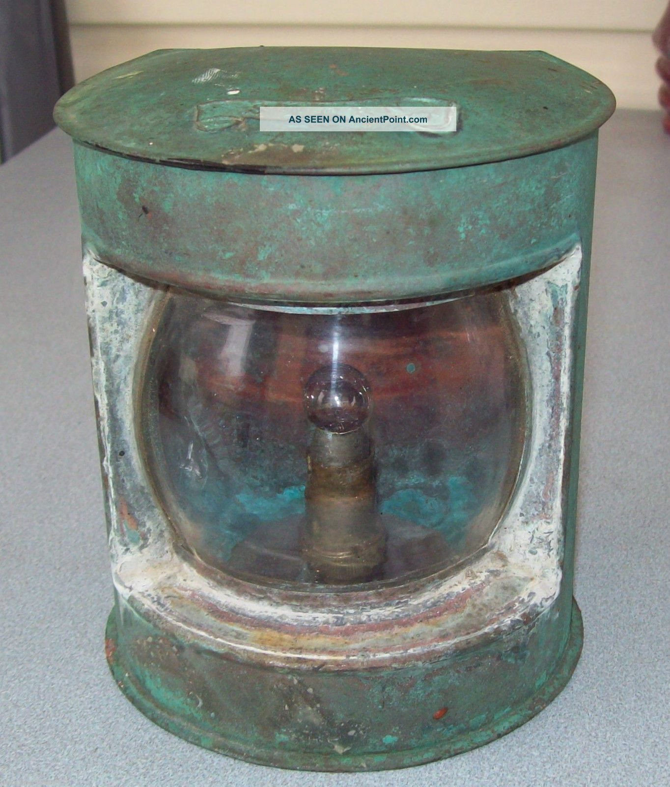 Vintage Fishing Trawler Copper Stern Light - Needs Restoration Other Maritime Antiques photo
