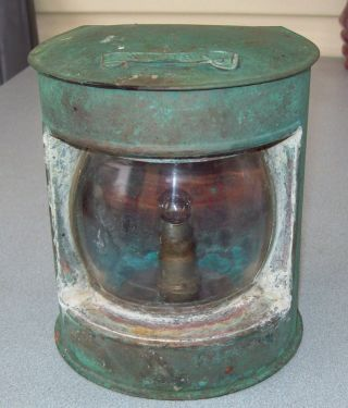 Vintage Fishing Trawler Copper Stern Light - Needs Restoration photo