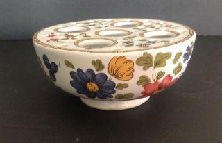 Mottahedeh Portugal Porcelain Frog Vase Bud Vase Floral Round photo