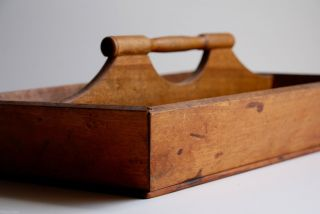 Antique Shaker Made Maple Knife Tray England Early 19th Century photo