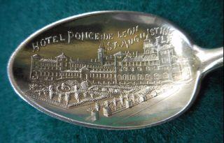 Sterling Souvenir Spoon Hotel Ponce De Leon St.  Augustine,  Fl,  Ca.  1900 photo