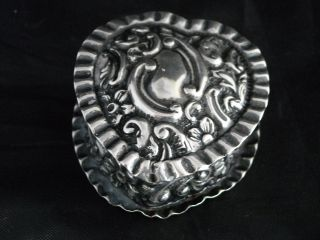 Victoran Sterling Silver Pill Box Gilt Interior Birmingham Hallmark 1800 ' S photo