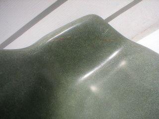 Herman Miller Fiberglass Shell Arm Lounge Chair Green Mid Century Furniture photo
