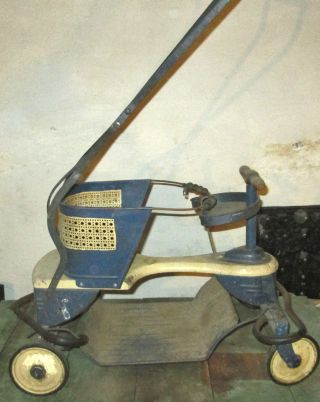 Vintage Taylor Tots Metal Stroller From The 1940 ' S - Complete photo