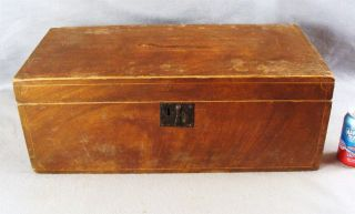 Antique Ca.  1830 Grain Painted Maple & Pine Storage Box photo