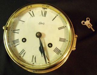 Vintage Brass German Schatz Royal Mariner Ship ' S Clock photo