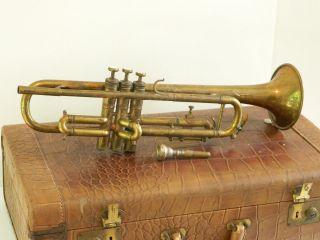 Vintage Brevette Besson Trumpet Made In Paris 97273 France Vincent Bach photo