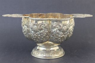 Rare Antique European Repousse Silver Plated Large Christening Bowl Cup photo
