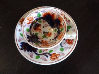 C1850 Gaudy Welsh Swansea Child ' S Toy Grape Pattern Cup Saucer Duo photo