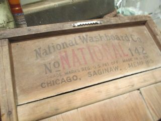 National Washboard Co.  - No.  142 Early Century Antique Wooden Washboard photo