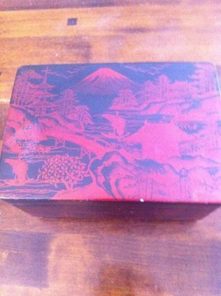Antique Wooden Chinese Music Jewerly Box photo